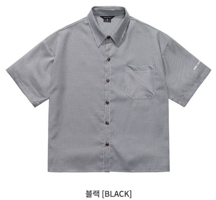 WV PROJECT Shirts Other Check Patterns Unisex Street Style Short Sleeves 18