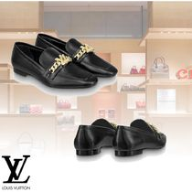 Louis Vuitton Plain Leather Elegant Style Loafer Pumps & Mules