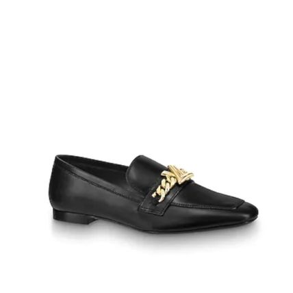 Louis Vuitton Loafer Plain Leather Elegant Style Loafer Pumps & Mules 2