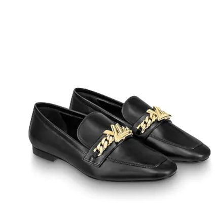 Louis Vuitton Loafer Plain Leather Elegant Style Loafer Pumps & Mules 3