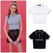 SCULPTOR Street Style Short Sleeves Sweaters