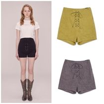 SCULPTOR Short Casual Style Street Style Cotton Denim & Cotton Shorts