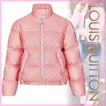 Louis Vuitton Short Monogram Blended Fabrics Bi-color Down Jackets