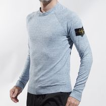 STONE ISLAND Long Sleeves Cotton Logos on the Sleeves Sweaters