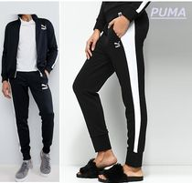 PUMA Unisex Street Style Plain Long Pants