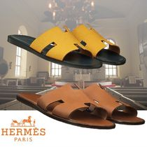HERMES Blended Fabrics Shower Shoes Shower Sandals