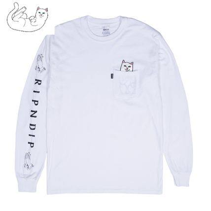 RIPNDIP Long Sleeve Crew Neck Unisex Street Style Long Sleeves Cotton