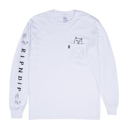 RIPNDIP Long Sleeve Crew Neck Unisex Street Style Long Sleeves Cotton 2