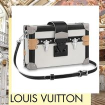 Louis Vuitton PETITE MALLE Casual Style 2WAY Leather Shoulder Bags