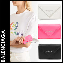 BALENCIAGA PAPIER A4 Leather Folding Wallets