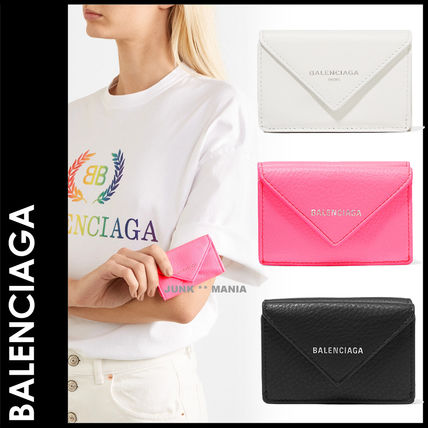 BALENCIAGA Folding Wallets Leather Folding Wallets