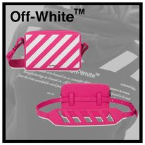 Off-White Stripes Leather Bags