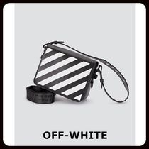 Off-White Casual Style Unisex Saffiano Street Style 2WAY Shoulder Bags