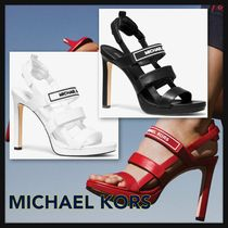 Michael Kors Open Toe Casual Style Street Style Leather Pin Heels