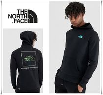 THE NORTH FACE Street Style Long Sleeves Plain Cotton Hoodies