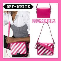 Off-White Casual Style Bi-color Leather Shoulder Bags