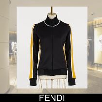 FENDI Unisex Sweat Long Sleeves Plain Medium Hoodies & Sweatshirts