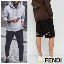 FENDI BAG BUGS Plain Cotton Shorts