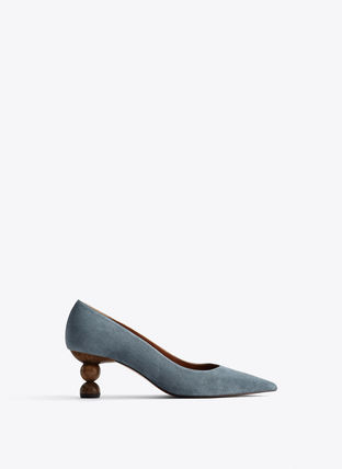 Leather Block Heels Elegant Style Block Heel Pumps & Mules