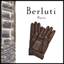 Berluti Blended Fabrics Street Style Plain Leather