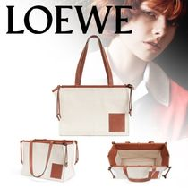 LOEWE Casual Style Canvas A4 Plain Totes