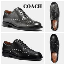 Coach Flower Patterns Round Toe Rubber Sole Casual Style