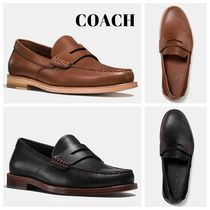 Coach Loafers Plain Leather Loafers & Slip-ons