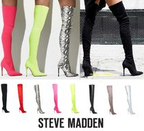 Steve Madden Plain Elegant Style Over-the-Knee Boots