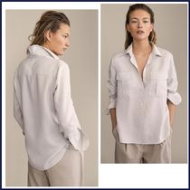 Massimo Dutti Casual Style Long Sleeves Shirts & Blouses