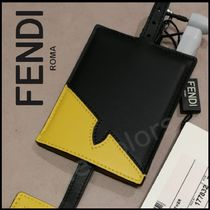 FENDI BAG BUGS Street Style Plain Leather Accessories