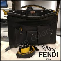 FENDI PEEKABOO Calfskin 2WAY Plain Business & Briefcases