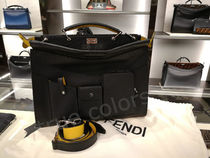 FENDI PEEKABOO Calfskin 2WAY Plain Crossbody Bag Business & Briefcases