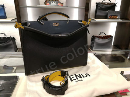 FENDI Business & Briefcases Calfskin 2WAY Plain Business & Briefcases 3