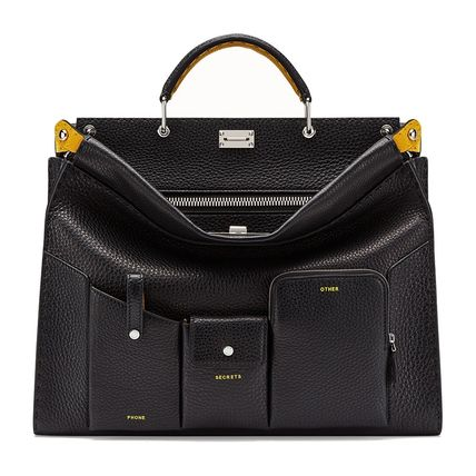 FENDI Business & Briefcases Calfskin 2WAY Plain Business & Briefcases 4