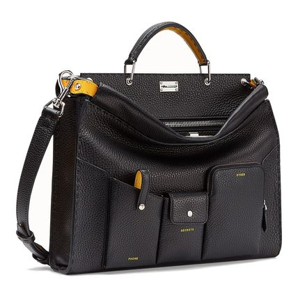 FENDI Business & Briefcases Calfskin 2WAY Plain Business & Briefcases 5