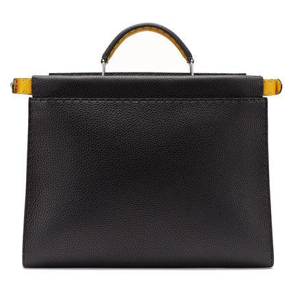 FENDI Business & Briefcases Calfskin 2WAY Plain Business & Briefcases 6