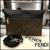 FENDI Monogram Calfskin 2WAY Messenger & Shoulder Bags