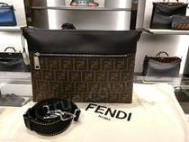FENDI Monogram Calfskin 2WAY Crossbody Bag Logo