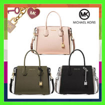 Michael Kors MERCER 2WAY Leather Elegant Style Handbags