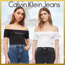 Calvin Klein Plain Cotton Bandeau & Off the Shoulder