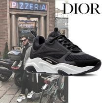 DIOR HOMME Blended Fabrics Street Style Plain Sneakers