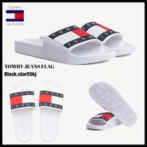 Tommy Hilfiger Unisex Street Style Shower Shoes PVC Clothing Shower Sandals