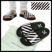 Off-White Stripes Shower Shoes Shower Sandals