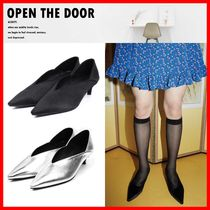 OPEN THE DOOR Casual Style Street Style Pumps & Mules