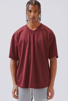FEAR OF GOD V-Neck Street Style V-Neck Plain Short Sleeves V-Neck T-Shirts 11
