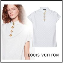 Louis Vuitton 2019-20AW MNOGRAM FRILL BLOUSE white 34-44 blouse