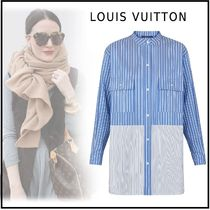 Louis Vuitton 2019-20AW STRIPE OVERSIZED SHIRT blue 34-40 shirt