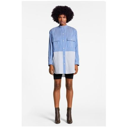 Louis Vuitton Shirts & Blouses 2019-20AW STRIPE OVERSIZED SHIRT blue 34-40 shirt 3