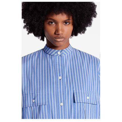 Louis Vuitton Shirts & Blouses 2019-20AW STRIPE OVERSIZED SHIRT blue 34-40 shirt 4