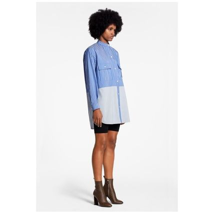 Louis Vuitton Shirts & Blouses 2019-20AW STRIPE OVERSIZED SHIRT blue 34-40 shirt 5